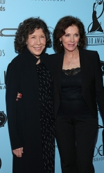 Lily Tomlin (L) and guest