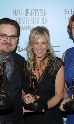 Best Make-Up for Commercial's and Music Videos Award recipients Kerry Herta, Jason Collins and Christina Waltz
