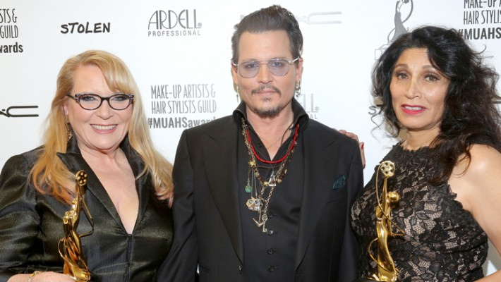 Ve Neil, Johnny Depp and Yolanda Toussieng
